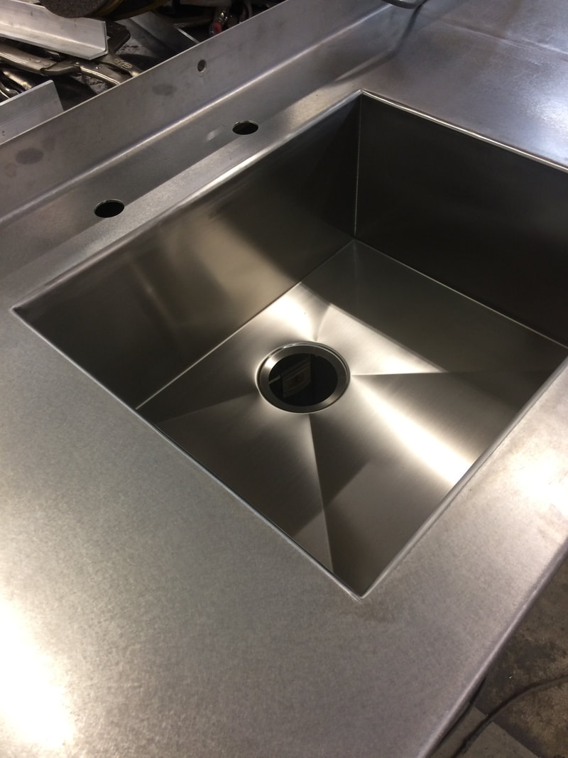 discontinued bowl made sinks countertop with replacement steel custom countertops triple drop in topmount stainless sink